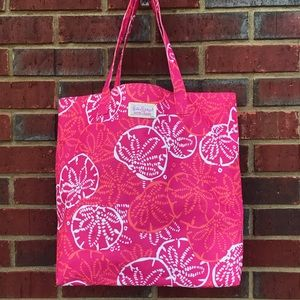 Lily Pulitzer Pink Sea Stars Beach Pool Tote Bag